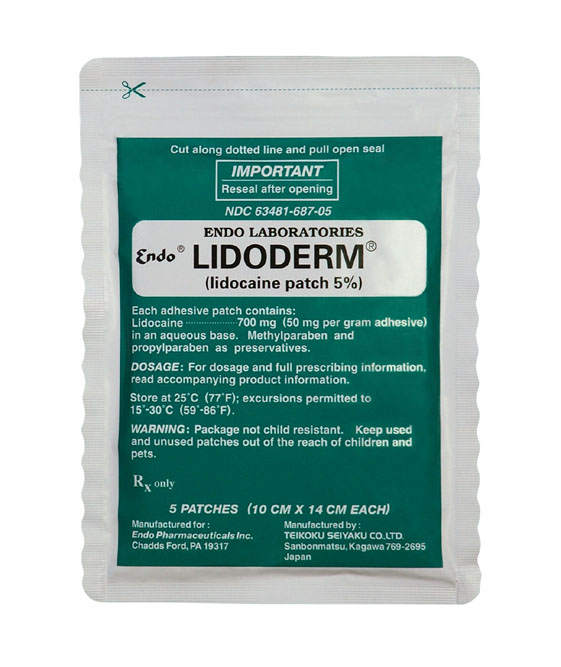 Lidocaine medicated plaster